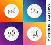 modern  simple vector icon set... | Shutterstock .eps vector #1115542901