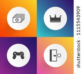 modern  simple vector icon set... | Shutterstock .eps vector #1115543909