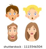 emotions of human face. set of... | Shutterstock .eps vector #1115546504
