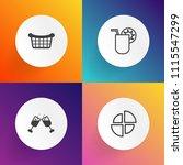 modern  simple vector icon set... | Shutterstock .eps vector #1115547299