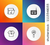 modern  simple vector icon set...   Shutterstock .eps vector #1115548055