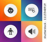 modern  simple vector icon set...   Shutterstock .eps vector #1115548919