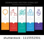 5 vector icons such as bracelet ... | Shutterstock .eps vector #1115552501