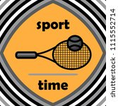 tennis racket vector icon flat... | Shutterstock .eps vector #1115552714