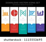 5 vector icons such as bar... | Shutterstock .eps vector #1115553695