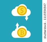 cryptocurrency concept....   Shutterstock .eps vector #1115554547