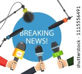 breaking news live concept.... | Shutterstock .eps vector #1115556491
