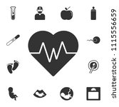 heartbeat vector icon. simple... | Shutterstock .eps vector #1115556659