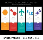 5 vector icons such as earth ... | Shutterstock .eps vector #1115558411