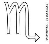 scorpion symbol zodiac icon... | Shutterstock .eps vector #1115558651
