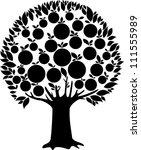 fruit tree isolated on white... | Shutterstock .eps vector #111555989
