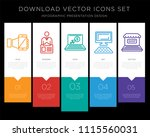 5 vector icons such as... | Shutterstock .eps vector #1115560031