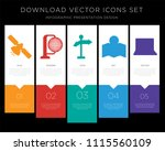 5 vector icons such as... | Shutterstock .eps vector #1115560109
