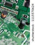 electronic circuit board close... | Shutterstock . vector #1115570624