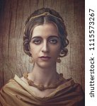 fayumi portraiture. antique... | Shutterstock . vector #1115573267