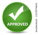 approved  validate icon ... | Shutterstock . vector #1115574641