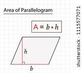area of parallelogram with... | Shutterstock .eps vector #1115577071