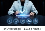 standard quality control... | Shutterstock . vector #1115578067