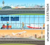 airport detailed horizontal... | Shutterstock .eps vector #1115578604