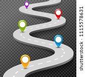 vector 3d road infographic...   Shutterstock .eps vector #1115578631
