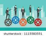 business person standing on... | Shutterstock .eps vector #1115583551