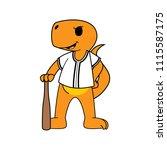 sport cartoon mascot design    Shutterstock .eps vector #1115587175