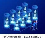 isometric artificial... | Shutterstock .eps vector #1115588579