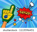 male hand in the country flag... | Shutterstock .eps vector #1115596451