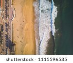 drone shot of the border of the ... | Shutterstock . vector #1115596535