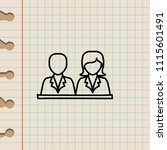 pupils sketch icon. element of... | Shutterstock .eps vector #1115601491