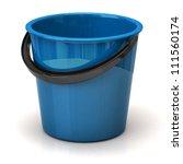 blue bucket isolated on white...   Shutterstock . vector #111560174