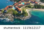 aerial view of arkutino region... | Shutterstock . vector #1115612117