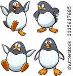 cartoon penguin with different...   Shutterstock .eps vector #1115617685