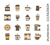 vector set of turk grinder ... | Shutterstock .eps vector #1115620634