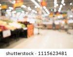 abstract supermarket grocery...   Shutterstock . vector #1115623481