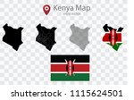 high quality map of kenya with... | Shutterstock .eps vector #1115624501