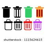 trash illustration vector | Shutterstock .eps vector #1115624615