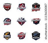 vector american football logos... | Shutterstock .eps vector #1115630087