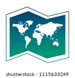 world paper map icon | Shutterstock .eps vector #1115633249