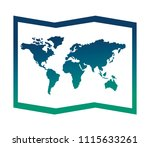 world paper map icon | Shutterstock .eps vector #1115633261