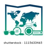 world paper map with set... | Shutterstock .eps vector #1115633465