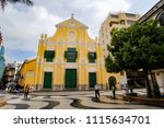st. dominic's church at ... | Shutterstock . vector #1115634701