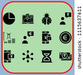 simple 12 icon set of business... | Shutterstock .eps vector #1115637611
