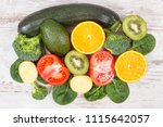 natural ingredients or products ... | Shutterstock . vector #1115642057