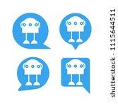robot in blue speech bubble... | Shutterstock .eps vector #1115644511