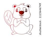 cute beaver cartoon animal image   Shutterstock .eps vector #1115646749
