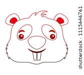 cute beaver head cartoon...   Shutterstock .eps vector #1115646761