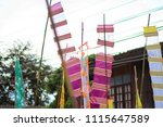 the flag in northern thailand ... | Shutterstock . vector #1115647589