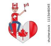 man in celebration canadian... | Shutterstock .eps vector #1115648345