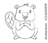 cute beaver cartoon animal image   Shutterstock .eps vector #1115650559